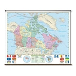 Universal Map Essential Wall Map - Canada; Rails