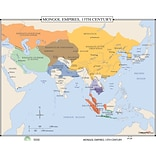 Universal Map World History Wall Maps - Mongol Empires 13th Century