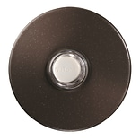 Broan Lighted Round Stucco Pushbutton; Oil-Rubbed Bronze