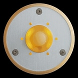 Spore Round LED Doorbell Button; Amber