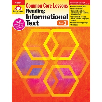 Evan-Moor Educational Publishers Reading Informational Text: Common Core Lessons for Grade 1 (3201)