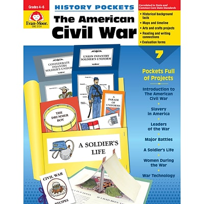 Evan-Moor Educational Publishers History Pockets: The American Civil War Grades 4-6+ Ed.1 (3724)