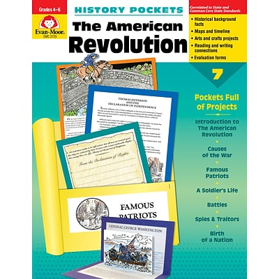 Evan-Moor Educational Publishers History Pockets: The American Revolution Grades 4-6+ Ed.1 (3725)