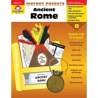 Evan-Moor Educational Publishers History Pockets: Ancient Rome Grades 4-6+ Edition 1 (3726)