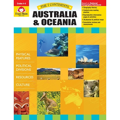 Evan-Moor Educational Publishers 7 Continents: Australia and Oceania Grades 4-6+ Ed. 1 (3733)