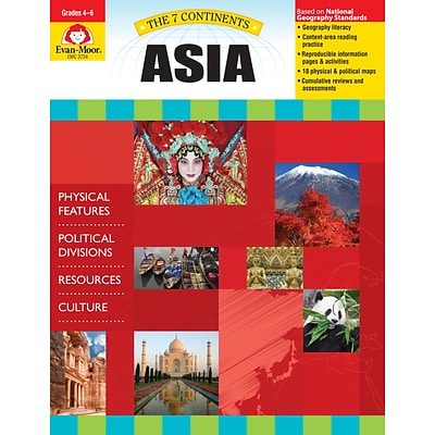 Evan-Moor Educational Publishers 7 Continents: Asia Grades 4-6+ Edition 1 (3734)