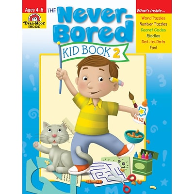 Evan-Moor Educational Publishers Never-Bored Kid Book 2 for Grades PreK-K (6307)