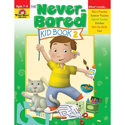 Evan-Moor Educational Publishers Never-Bored Kid Book 2 for Grades 2-3; Each (6310)