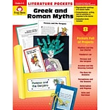 Evan-Moor Educational Publishers Literature Pockets: Greek & Roman Myths 4-6+ Ed. 1 Paperback (2734)