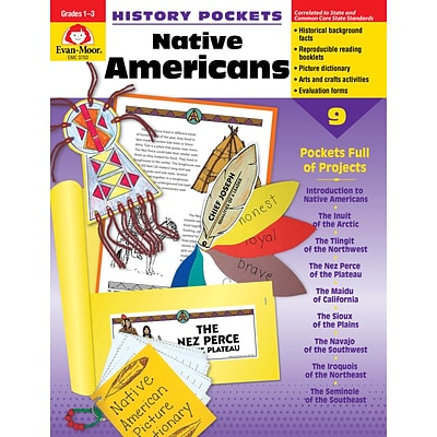 Evan-Moor Educational Publishers History Pockets: Native Americans Grades 1-3 (3703)