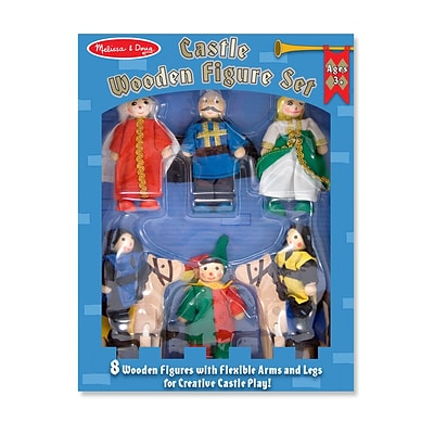 Castle Wooden Figure Set,11.05 x 8.25 x 1.95, (285)
