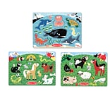 Peg Puzzle Farm Animals Pets & Sea Creature