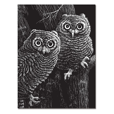 Melissa & Doug Scratch Art Black-Coated 12pt Scratchboards, 14 x 11, 12 Boards, (8080)