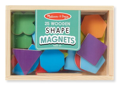 Mel & Doug Wooden Shape Magnets 7.9x5.5x1.2