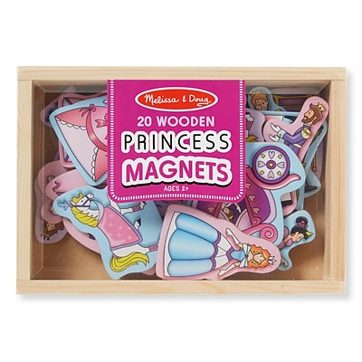Melissa & Doug Wooden Princess Magnets, 7.9 x 5.5 x 1.2, (9278)