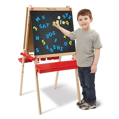 Melissa & Doug Deluxe Easel / Magnetic Boards, 28.75 x 24.7 x 5.75, (9336)