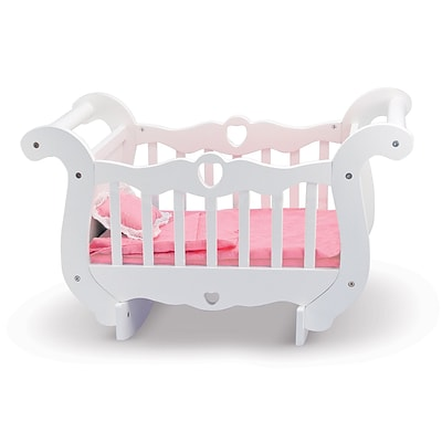 Melissa & Doug Wooden Doll Crib, 23.65 x 15.15 x 8.85, (9385)