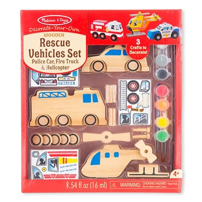Melissa & Doug Rescue Vehicles Set, 10 x 7.8 x 2.9, (9528)