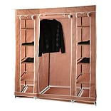 Home-it 17 Deep Cloth Closet; Coffee
