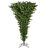 Vickerman 5.5 Upside Down Artificial Christmas Tree w/ 250 LED Multi Colored Lights w/ Stand
