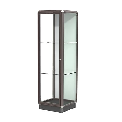 Waddell Prominence 24W x 78H x 24D Tower Case, Plaque Back, Dk. Bronze Finish