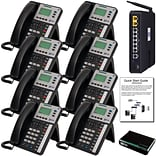 Xblue® X50 Self-Install VoIP Telephone System Bundle, 8-Pack, Charcoal