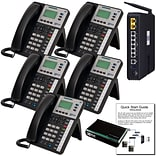 Xblue® X50 Self-Install VoIP Telephone System Bundle, 5-Pack, Charcoal