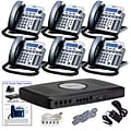 Xblue® X16 Self-Install Digital Telephone System Bundle, 6-Pack, Titanium