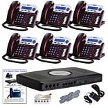 Xblue® X16 Self-Install Digital Telephone System Bundle, 6-Pack, Red