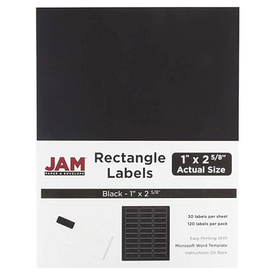 JAM Paper® Mailing Address Labels, 1 x 2 5/8, Black, 120/pack (302228592)
