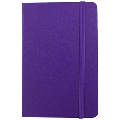 JAM Paper® Hardcover Lined Notebook with Elastic Closure, Large, 5 7/8 x 8 1/2 Journal, Plum Purple, 1/pk (340528857)