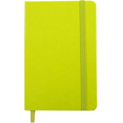 JAM Paper® Hardcover Lined Notebook With Elastic Closure, Travel Size, 4 x 6 Journal, Green Apple, Sold Individually (340528852)