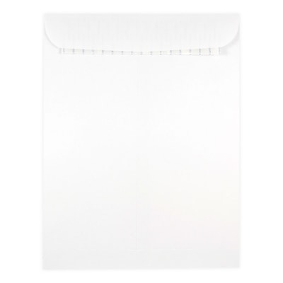 JAM Paper® 9.5 x 12.5 Catalog Open End Envelopes with Self Adhesive Closure, White, 500/box (356828781)