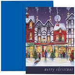 JAM Paper® Christmas Holiday Cards Set, City Street Merry Christmas, 18/pack (526873600)