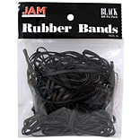 JAM Paper® Rubber Bands, #33 Size, Black Rubberbands, 100/pack (333RBBL)