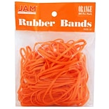 JAM Paper® Rubber Bands, #33 Size, Orange Rubberbands, 100/pack (333RBOR)