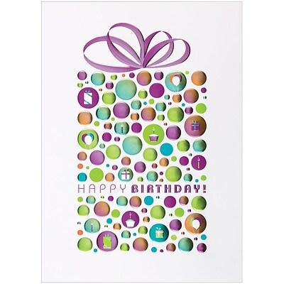 Jam Paper Blank Birthday Cards Set Happy Birthday Dot 25pack