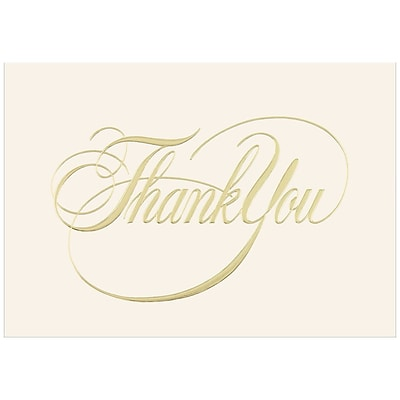 JAM Paper® Blank Thank You Cards Set, Elegant Thank You, 25/pack (526CA3442WB)