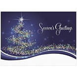 JAM Paper® Christmas Holiday Cards Set, Star Tree with Imprinted Front, 25/pack (526M0273B)