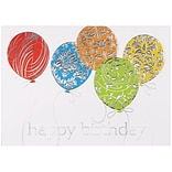 JAM Paper® Blank Birthday Cards Set, Birthday Balloons, 25/pack (526M0424WB)