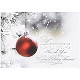 JAM Paper® Blank Christmas Holiday Cards Set, Ornament, 25/pack (526M0496B)