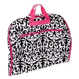 World Traveler Damask Hanging Garment Bag; Pink