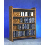 Wood Shed 400 Series 220 CD Multimedia Storage Rack; Clear