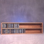 Wood Shed 200 Series 236 CD Multimedia Tabletop Storage Rack; Clear
