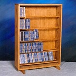 Wood Shed 500 Series 275 CD Dowel Multimedia Storage Rack; Unfinished