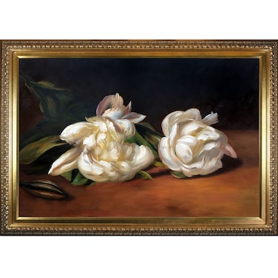Branch of White Peonies w/ Pruning Shears