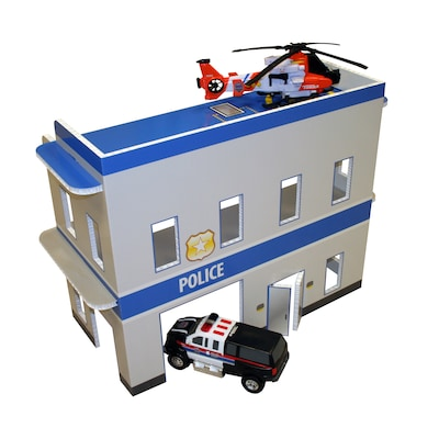 FunDeco Police Station Dollhouse