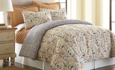 Amrapur Mavia 6 Piece Reversible Comforter Set;
