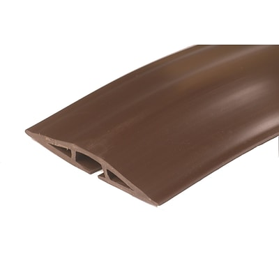 Wiremold® Corduct Rubber 1-Channel Overfloor Cord Protector, 15, Brown