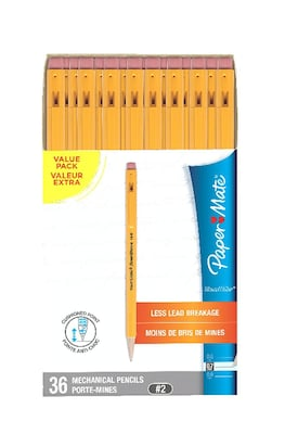 Paper Mate Mechanical Pencil, #2, 0.7mm, 36/Pack (1921221)